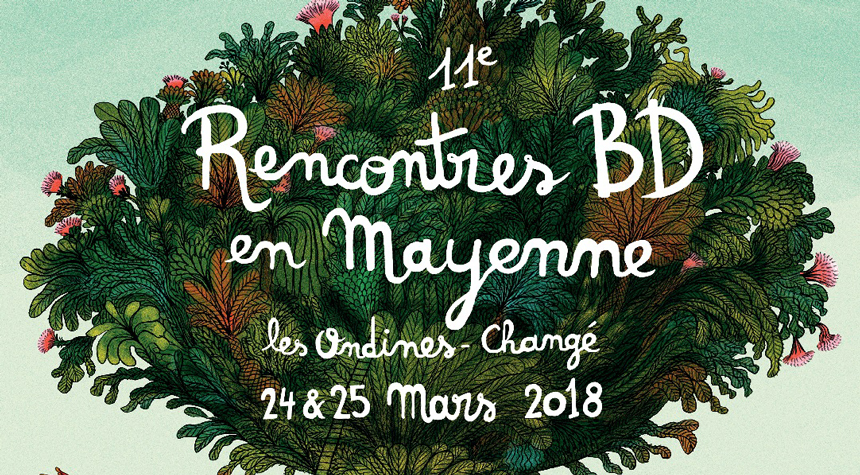 Affiche 11e rencontres BD en Mayenne