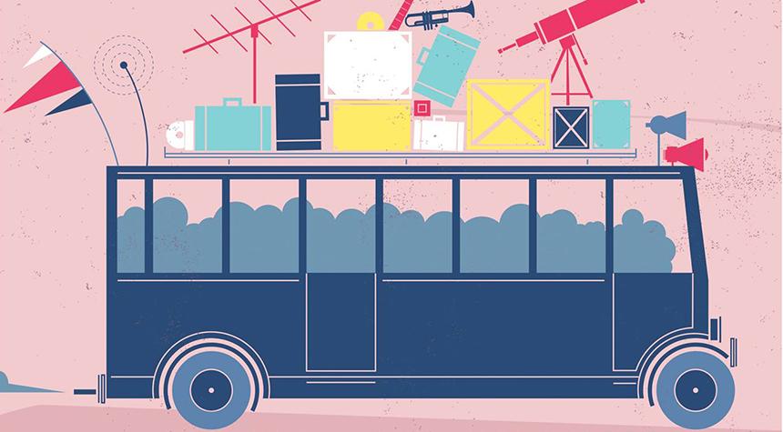 Visuel de Monte dans l'bus
