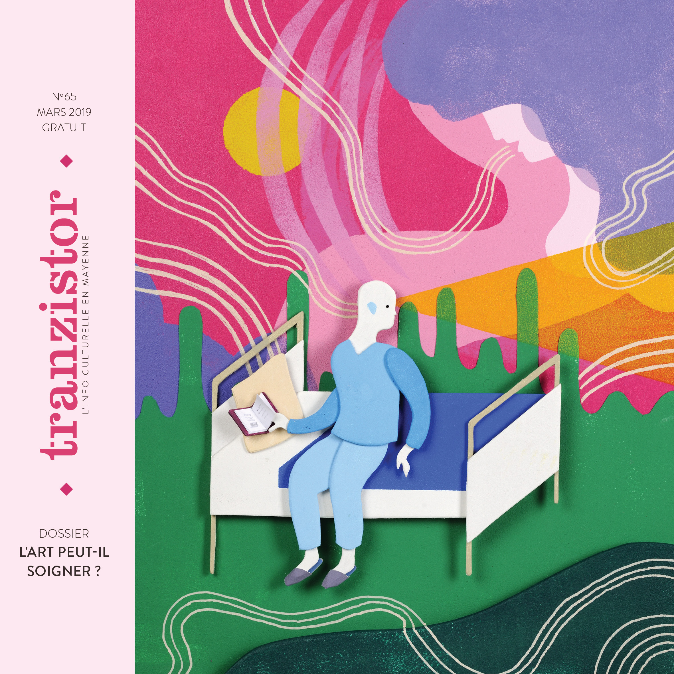 Couverture du N° 64 de Tranzistor, illustrée par Christophe Alline