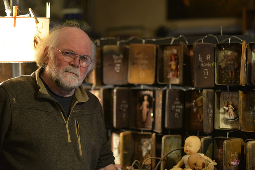 Fabrice Milleville dans son atelier